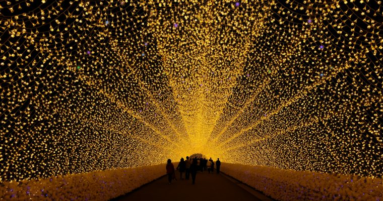 Japan's coolest winter illumination @ Nabana No Sato なばなの里
